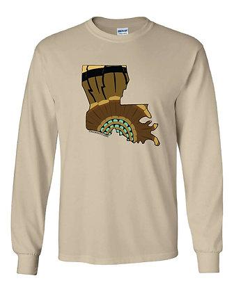 Louisiana Turkey Pattern T-Shirt