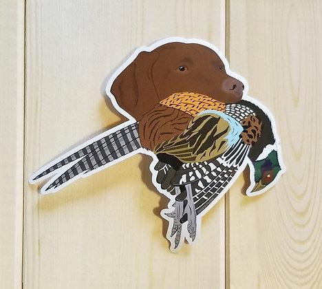 Vizsla w/Pheasant Sticker