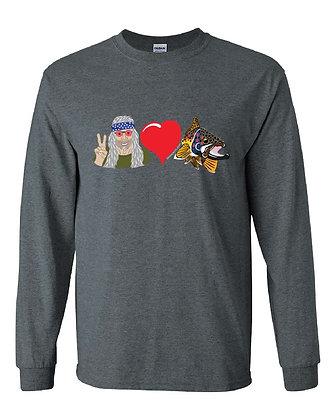 Peace & Love Brown Trout T-Shirt