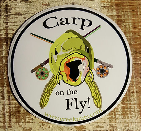 Carp on the Fly! Sticker