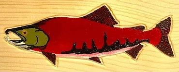 Hand-Painted Sockeye Salmon
