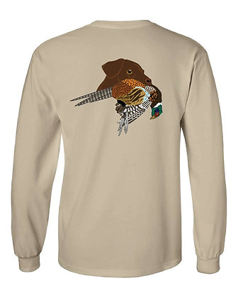 Nebraska Chocolate Lab/Pheasant T-Shirt