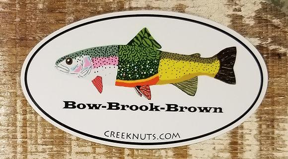 """""""Bow-Brook-Brown"""" Sticker"""