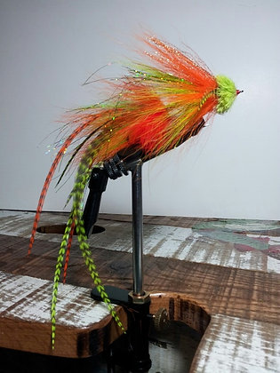Musky Fly - Double - Orange & Chartruese