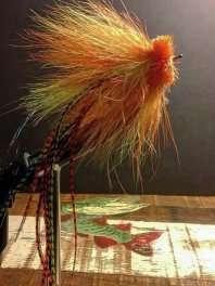 Musky Fly Single - Chartruese/Orange