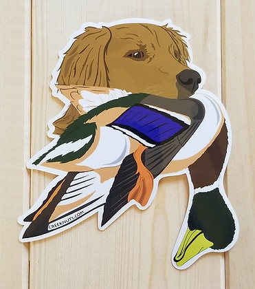 Golden Retriever w/Mallard Sticker