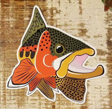 Golden Trout Kype Sticker