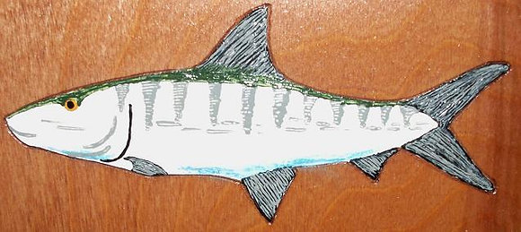Hand-Painted Bonefish