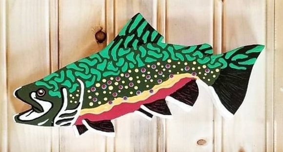 Hand-Painted Brook Trout