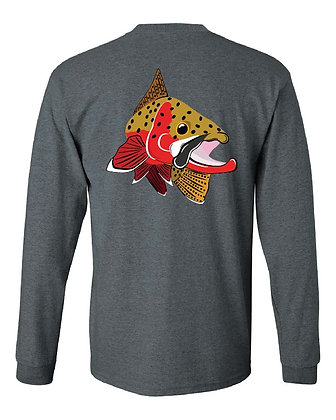 Cutthroat Trout Kype/State Skin T-Shirts