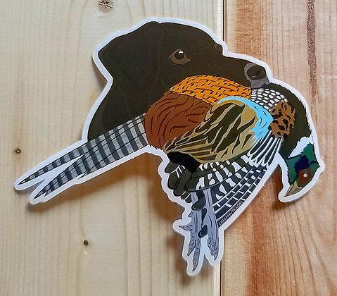 German Shorthaired Pointer (Liver) w/Pheasant Sticker