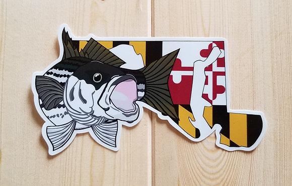 Striper - Maryland Flag Sticker