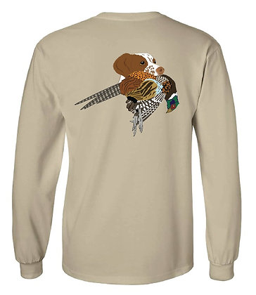 South Dakota Brittany Spaniel w/Pheasant T-Shirt