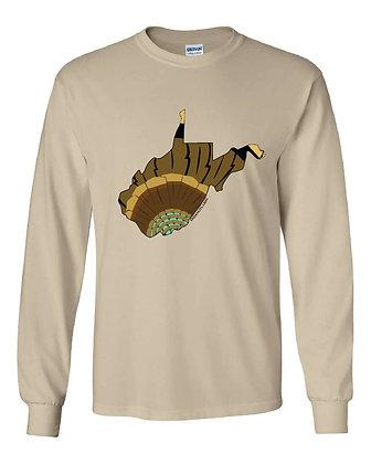 West Virginia Turkey Pattern T-Shirt