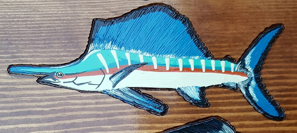 Hand-Painted Sailfish
