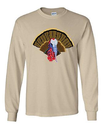 Angry Turkey Pattern T-Shirt