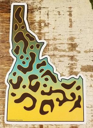 Idaho Tiger Trout Skin Sticker
