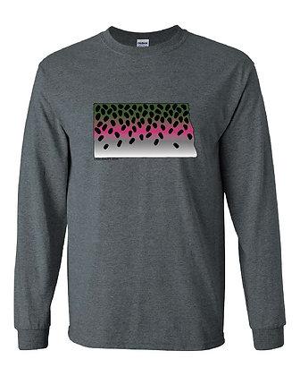 North Dakota Rainbow Trout Skin T-Shirt