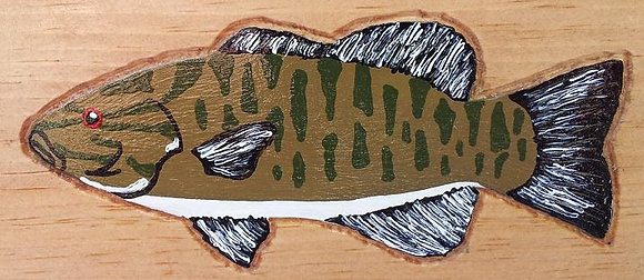 Hand-Painted Smallmouth Bass