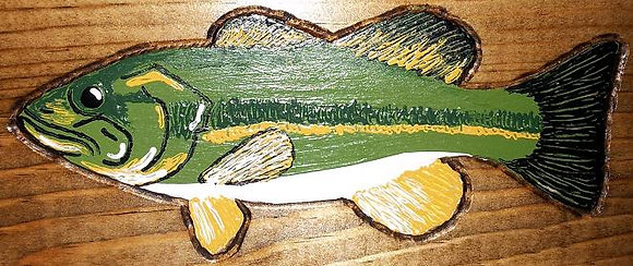 Painted Largemouth Bass