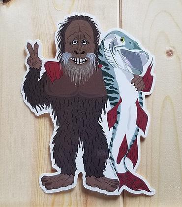 Bigfoot & Musky Love Sticker