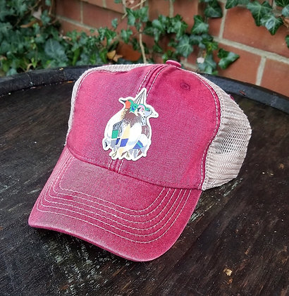 Mixed Bag Ducks Red Trucker Hat