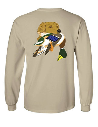 Kansas Golden Retriever w/Mallard T-Shirt