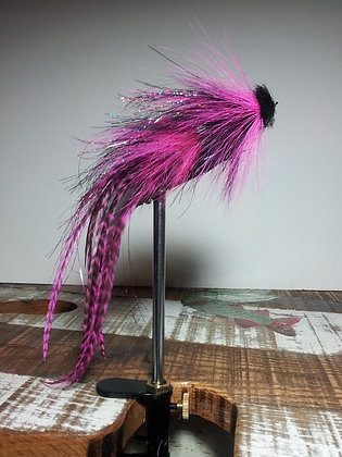 Musky Fly - Double - Pink & Black