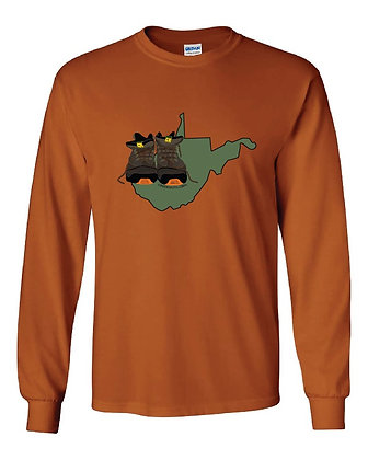 West Virginia Hiking Boot T-Shirts
