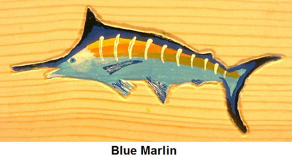 Painted Blue Marlin