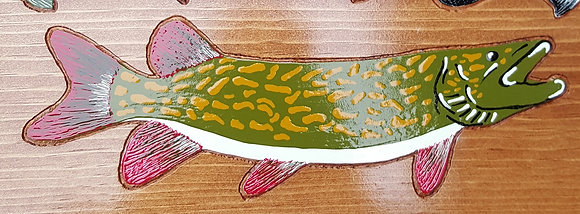 Hand-Painted Northern Pike