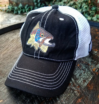 Brown Trout Kype Black Trucker Hat