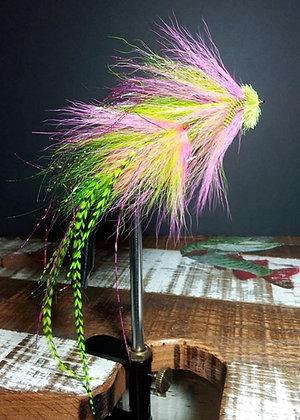 Musky Fly Double - Chartruese/Pink