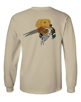 Wisconsin Golden Retriever w/Pheasant T-Shirt