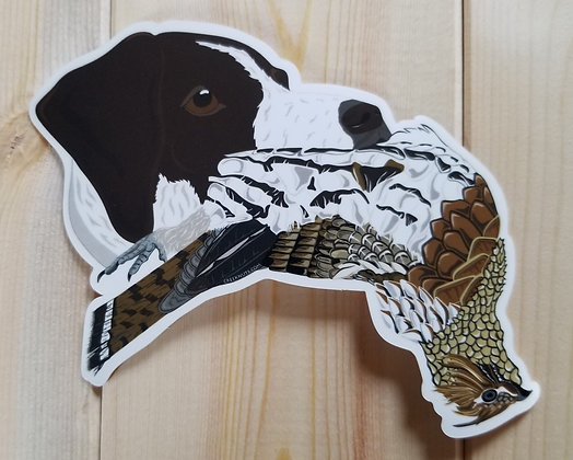 German Shorthaired Pointer w/Grouse Sticker