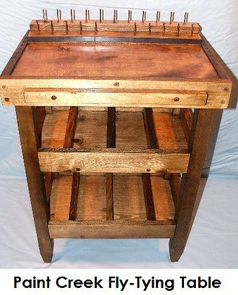 Paint Creek Fly-Tying Table - Stained