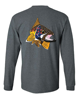 Brown Trout Kype/State Skin T-Shirts