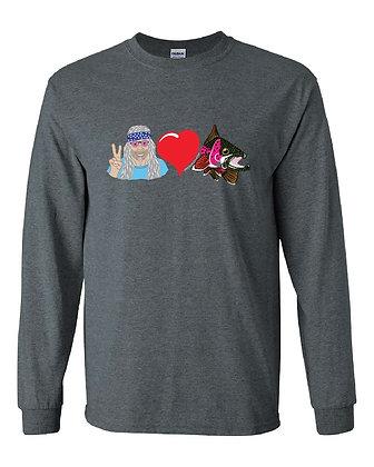 Peace & Love Rainbow Trout T-Shirt