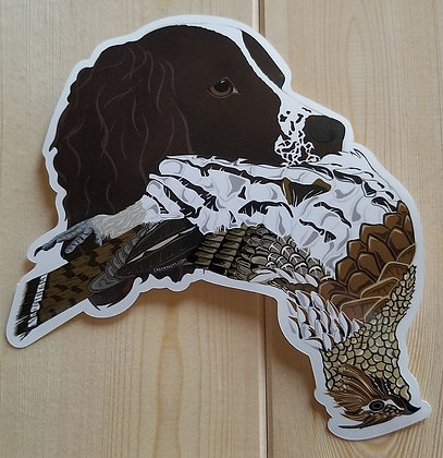 English Springer Spaniel w/Grouse Sticker