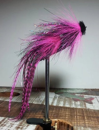 Musky Fly Double - Pink/Black