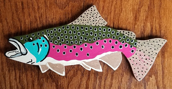 Hand-Painted Rainbow Trout