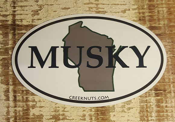 Wisconsin Classic Musky Oval