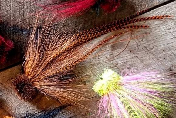 Musky Fly Single - Orange/Brown/Black