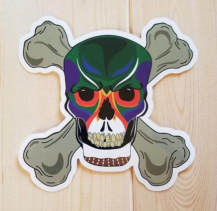 Wood Duck Skull & Crossbones Sticker