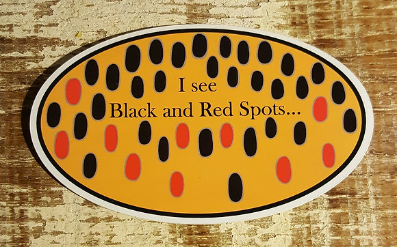"""Spots"" Brown Trout Sticker"