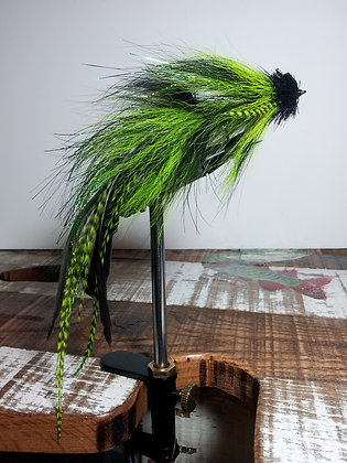 Musky Fly - Double - Chartruese & Black