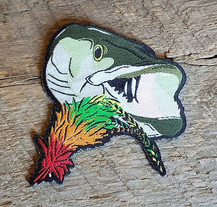 Musky with Fly Iron-On Patch