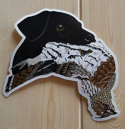 Black Lab w/Grouse Sticker