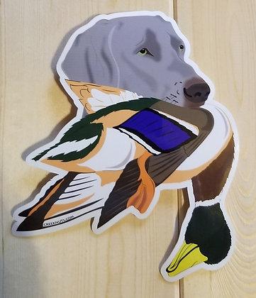 Weimaraner w/Mallard Sticker