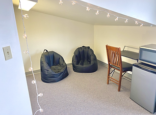 Chill nook with bean bags